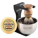 Rasierset Luxus Herren Geschenk Set Rasierpinsel reines Dachshaar silberspitz shaving brush badger...