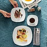 MALACASA, Serie Elisa, Porzellan Tafelservice 30 TLG. Geschirrset mit je 6 Kaffeetassen, 6 Untertassen, 6 Dessertteller, 6 Suppenteller, 6 Essteller - 7