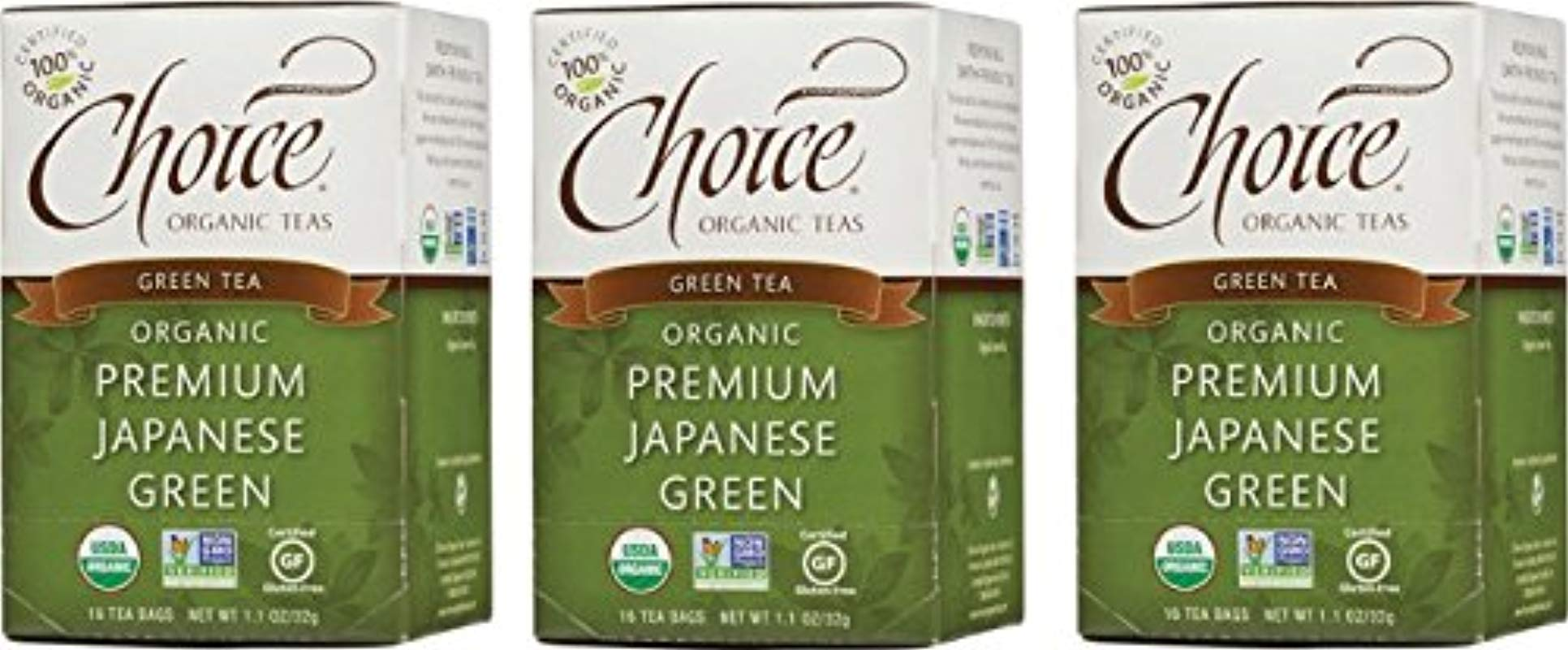 Choice Organic Teas Green Tea 3 Boxes Of 16 48 Tea Bags Premium Japanese Green