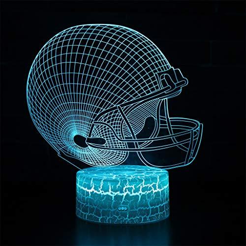 Veilleuse 3D simple lumière/LED, lumière de sculpture art tactile 7 couleurs, panneau acrylique, base en ABS, câble USB, chambre à coucher, décoration de bar