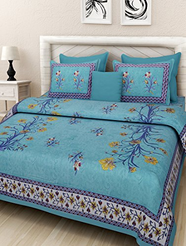 JAIPUR PRINTS Cotton Comfort Rajasthani Jaipuri Traditional King Size 1 Double Bedsheet...