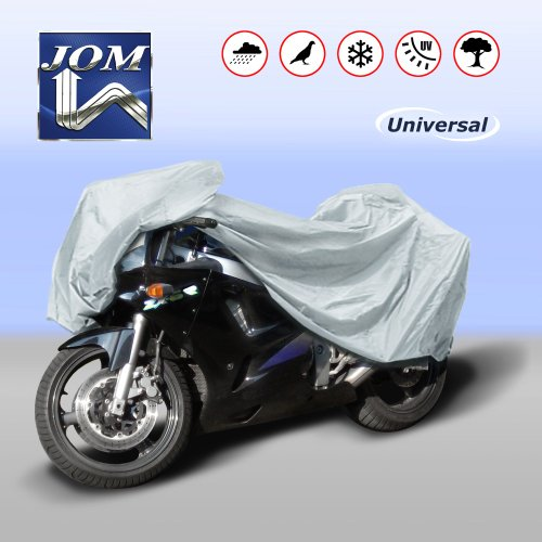 JOM Car Parts & Car Hifi GmbH 127082 Motorradabdeckung/Motorrad-Vollgarage, Größe XL 264x104x127cm
