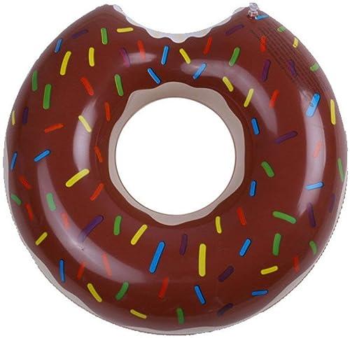 LEMONCOFFEE SHOP Im Freien Wasser Aufblasbare Riesen Donut Gummi Ring Schwimmring Sommer Tragbare Pool Strand Schwimm Pool Dekoration Erwachsene Kinder Paar Rettungsring