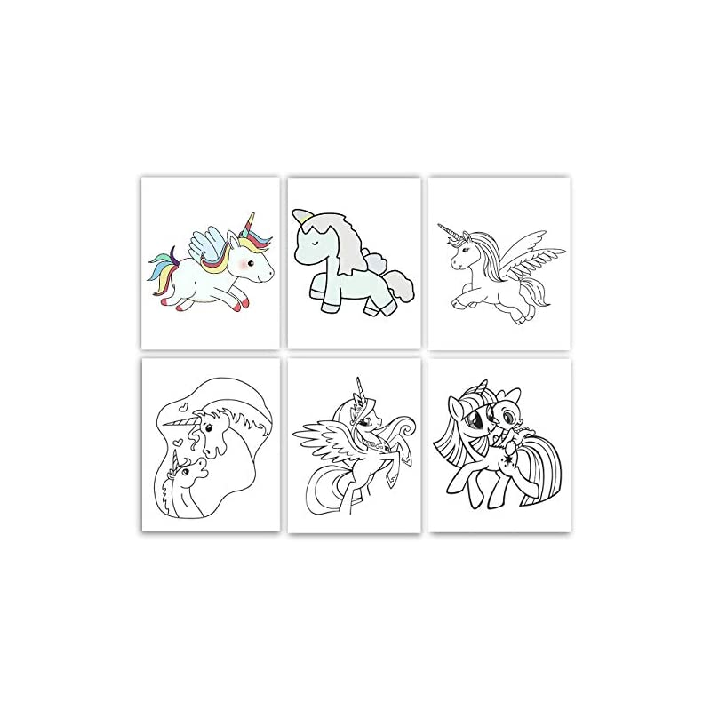 crib bedding and baby bedding gawell unicorn nursery wall decor 8x10 children's baby room decoration   poster animal poster decoration watercolor prints for boy girls - without frame set of 6 pictures