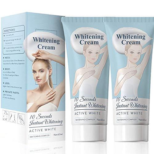 2pcs Body Cream, Intimate Skin Cream for Body,Underarm, Armpit, Elbow, knee, Sensitive Part,Anti-dark Spot Dark Spot Corrector for Knees, bikini line Body Cream 60ml