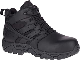 Merrell Work Men's Moab 2 Mid Tactical Response Waterproof CT, Black, 5