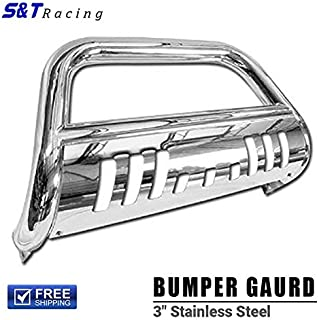 S&T Racing Chrome Bull Bar HD Steel Brush Push Bumper Grill Grille Guard 1999-2007 for Toyota Tundra/Sequoia