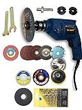 KROST Polisher, Sander, Complete Polishing and Drilling Grinding Machine, Medium, Blue