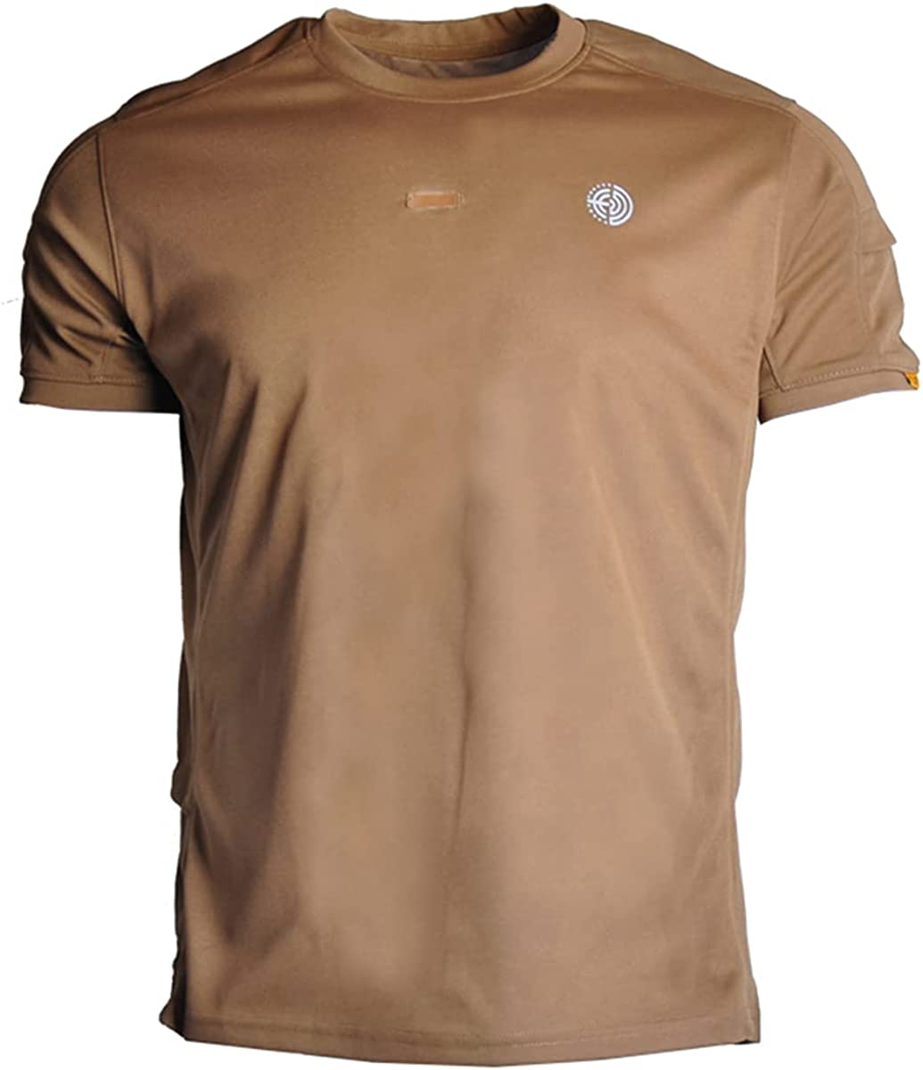 Super sale period limited Men's Military Short Sleeve Shirt Pullover Cargo Tactical Outdoo Under blast sales
