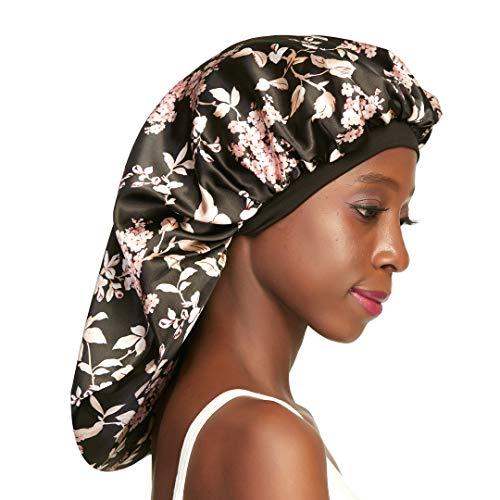Long Satin Bonnet for Natural Hair Large Sleep Cap for Braids