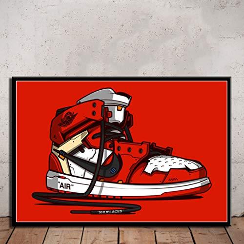 Danjiao Sneaker Schuhe Mode Air Max Kunst Malerei Leinwand Wand Dekoration Moderne Poster Für Wohnzimmer 60x90cm