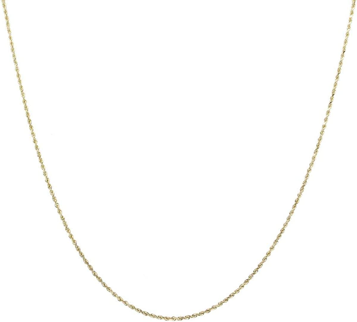 10K Gold 0.75MM Thin Oklahoma City Mall Max 51% OFF Rope Chain W Necklace- in Available Yellow