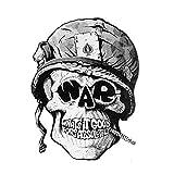 Autocollants pour voitures 11.2cm * 14.8cm Accessori auto fumatori Skull casco del motociclo della decalcomania di auto autocollants pour voitures