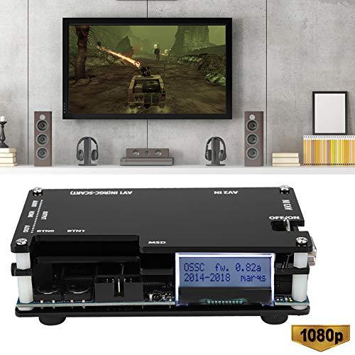 Hakeeta VGA zu HDMI Konverter Box, 1080p HD Video Konverter Adapter Unterstützt HDMI oder DVI-D RGB RGsB, Ypbpr 3.5mm Analog Audio für alte Spielekonsolen/Arcade Board Rahmen auf PC Monitor oder TV.