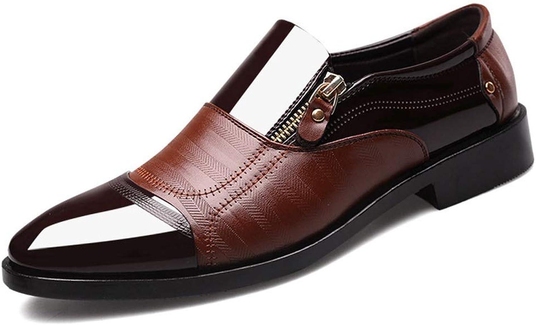 EGS-schuhe Herren Business Dress Schuhe Herren Business Dress Schuhe,Grille Schuhe (Farbe   Braun, Größe   44)