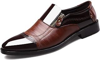 Dingziyue - Scarpe da uomo a punta, da uomo, a pedale, stile casual, pigri, colore: marrone, taglia 42