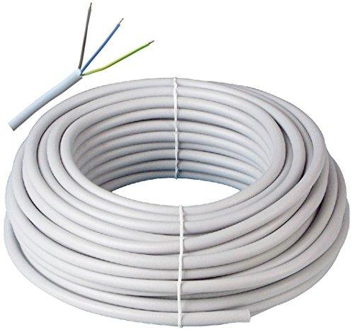 Kabelring NYM-J 3x1,5 300/500V 100m, Mantel-Leitung Stromkabel Elektroleitung