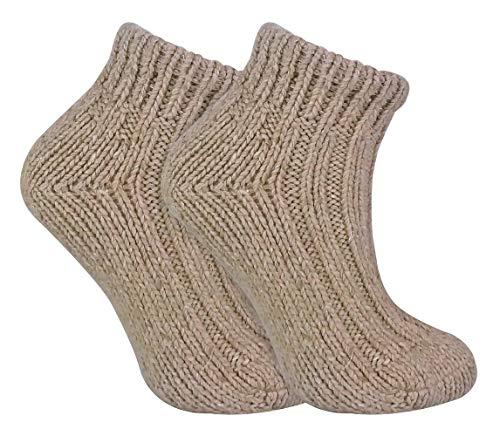 sock snob Damen Winter Bunt Gestrickt Kurz Norweger Style Wollsocken (37/42, 06 Oat)