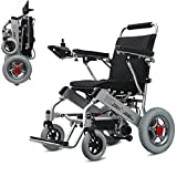 GLXLSBZ Lightweight Electric Wheelchair Foldable and Mobile Safe Joystick All Terrain Folding Power Chair Compact Mobility Dual (Gifts Elderly)