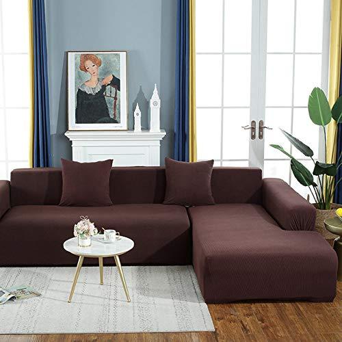 KTUCN Sofa Schonbezüge, Elastische Sofabezug Weiche Elegante All-Inclusive Samt Dekor Schonbezug Couch Für Wohnzimmer, N, 5-seat 305-360cm(1PC