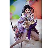 Leying 1/6 Soldado Mujer Kimono Corto Estilo Japonés Conjunto Figura Muñeca Accesorios De Disfraz (Purple)