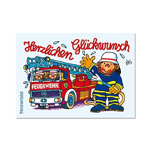 Lutz Mauder Lutz mauder84012Feuerwehr Benny Brandmeister 2Fenster Bild Postkarte