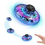 Vantic Hand Operated Drones for Kids or Adults - Scoot Hands Free Mini Drone Helicopter, Indoor Small Orb Flying Ball Drone Toys for Boys or Girls(Blue)