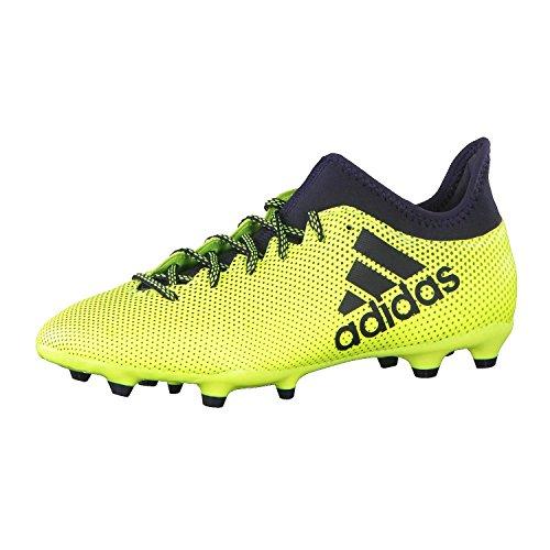 adidas Men's X 73 Fg Footbal Shoes, Multicolor (Solar Yellow/Legend Ink/Legend Ink), 9 UK