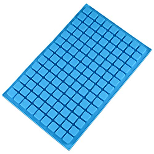 V-fox 126 Cavities Square Silicone Ice Cube Tray Molds, Great for Making Homemade Chocolate, Hard Candy, Gummy and Jelly, Random Color