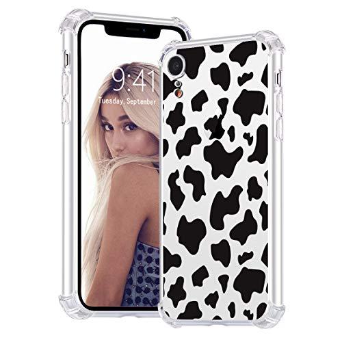 Idocolors Handyhülle für iPhone 6 Plus / 6s Plus mit Kuh Druck Motiv Hülle Transparent Durchsitig Stoßfest [ Eckenschutz + Weiches TPU ] Dünn Slim Case Cover Bumper Schtzhülle