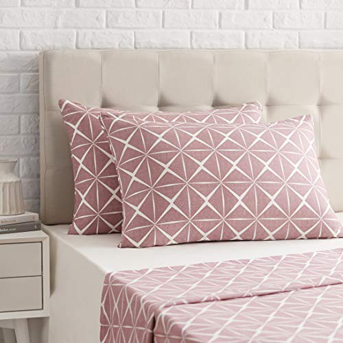 Amazon Basics - Funda de almohada de satén - 40 x 80 cm x 2, Malva cuarzo