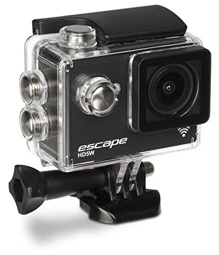 Kitvision Escape Wasserfeste Sport Action Camera Helmkamera HD5W Waterproof Full HD 1080p mit Wi-Fi WLAN-Datenübertragung inklusive Halterungsset und Wasserdichten Gehäuse/Unterwassergehäuse für Unterwasserfotografie/Tauchen - Schwarz