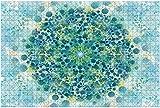 1000 piezas-Patrón fractal simétrico multicolor como caleidoscopio de flores Rompecabezas de madera DIY Rompecabezas educativos para niños Regalo de descompresión para adultos Juegos creativos Juguet