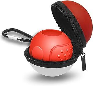 ポータブルキャリーケース Nintendo Switch モンスターボールプラス コントローラー2018対応 アクセサリーバッグ ポケモン レッツゴーピカチュウ用 (赤と白) (2 in 1)