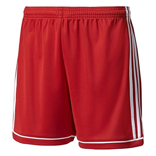 adidas Squad17 Jersey, Pantaloncini Sportivi. Donna, Power Red/White, M/L