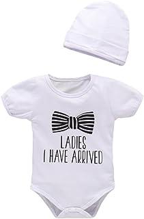 642ab41600 Winsummer Newborn Infant Baby Boy Ladies I Have Short Sleeve Letter Bows  Print Bodysuit Gentleman Romper