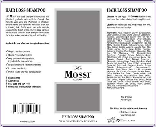 The Mossi London Hair Loss Shampoo