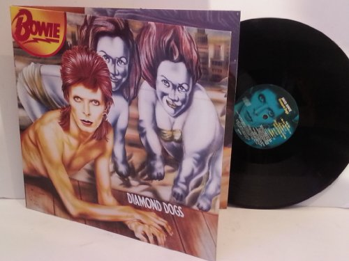 David Bowie DIAMOND DOGS, 1990 press with extra tracks. EMC 3584, gatefold