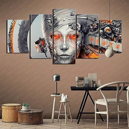 5 piezas Cuadro de lienzo- Llora para escapar de la tortura Videojuego de PC pintura 5 impresiones de imágenes Decoración de pared para el hogar Pinturas y carteles de arte HD 200cmx100cm sin marco