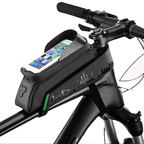 Tubo Frontal A Prueba De Agua Bolsa De Teléfono Para Bicicleta Pantalla Táctil Ciclismo Bicicleta Marco Bolsa Alforjas Para Teléfono De 6.0 Pulgadas Para Iphone Xs Xr X 8 7 6s 5s / Samsung Galaxy S8 S