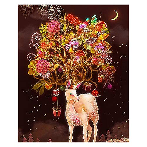 deendeng Kit de pintura de diamante 5D para adultos, pintura de diamantes de diferentes animales, decoración de la habitación del hogar