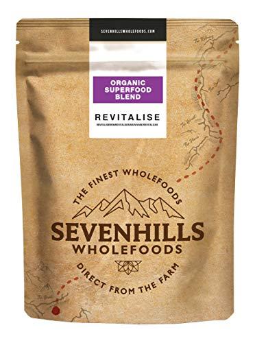 Sevenhills Wholefoods Revitalize Organic Superfood Blend (poudre de myrtille, poudre de Lucuma, poudre de baies de Maqui, poudre de baies d'Acai, poudre d'acérola) 250g
