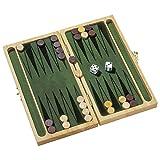 Goki HS056 Backgammon in Legno da Viaggio [Importato dalla Francia]