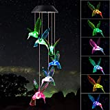 ShangTianFeng Hummingbird Wind Chimes Birthday Gifts for mom for mom from Daughter Mother in Law Gifts Gardening Gifts Stained Glass Window hangings windchimes Outdoor Decor Porch Decor