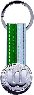 VfL Wolfsburg Schlüsselanhänger Logo grün-weiß