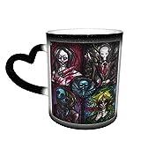 Taza que cambia de color Taza de café Creepypasta, taza de té, taza de cerámica de moda que cambia de color, taza sensible...