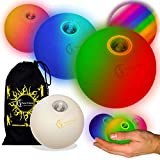 Nero con Verde. Set di 3 palline da giocoliere Deluxe Camoscio 3x Palline da Giocoliere Pro + borsa per il trasporto