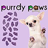Purrdy Paws Soft Nail Caps for Dog Claws Purple Holographic Glitter Jumbo