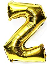 16inch(40cm) Shining Gold Chic Style Alphabet Letter Balloons Aluminum Hanging Foil Film Balloon Mylar balloons Air Balloon CANNOT FLOAT Letter Z