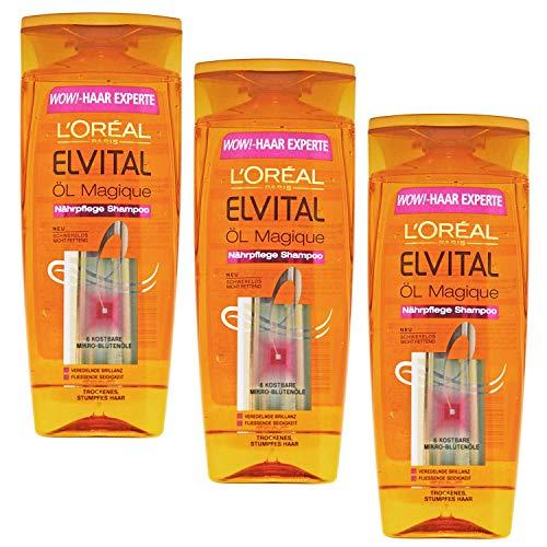 L'Oréal Paris Öl Magique Nährpflege Shampoo für trockenes Haar, 3er Pack (3 x 250 ml)